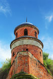 Turret of the castle in Dubno Stock Photos