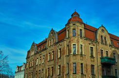 Turret and facade Art Nouveau building. In Poznan Royalty Free Stock Photography