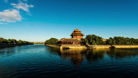 The turret of the Forbidden City in Beijing, China stock footage