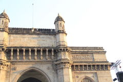 Turret and front architecture of Gateway of India Stock Photography