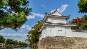 A Turret in front of Nijo Castle in Kyoto Royalty Free Stock Photo