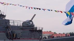 Turret Gun Warship stock video footage