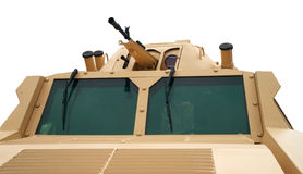 Turret with guns of combat armored vehicule Stock Photo