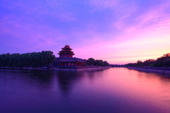 The turret of the imperial palace. At sunset in beijing,China Royalty Free Stock Photography