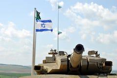 Turret of Israeli Merkava. The turret section of a modern Israeli 'Merkava' Tank, prepared for action Stock Images