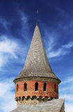 Turret of the Kamianets-Podilskyi castle Royalty Free Stock Photography
