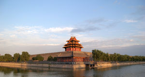 Turret, Moat, Forbidden City Stock Photos