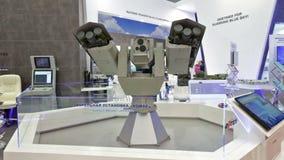 Turret mount Komar. KUBINKA, MOSCOW OBLAST, RUSSIA - SEP 06, 2016: Park Patriot, International military-technical forum ARMY-2016. Turret mount Komar production stock video footage