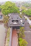 Turret of Nakatsu castle on Kyushu island, Japan Royalty Free Stock Photo
