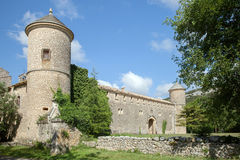 The turret of old castle in France Stock Images