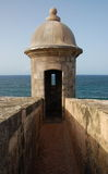 Turret Overlooking the Ocean Stock Photos