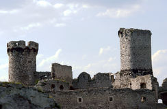 Turret ruined castle Royalty Free Stock Image