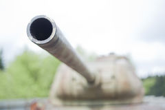 Turret of T34. Detail of turret of tank T34 Stock Images