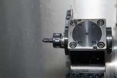 Turret  tool on the machine CNC Stock Image