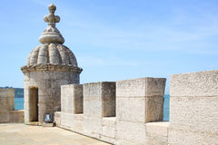 Turret of The Tower of Belem Stock Photos