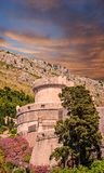 Turret and Walls of Old Dubrovnik Royalty Free Stock Images
