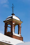 Turret, weather vane, sky Stock Photos