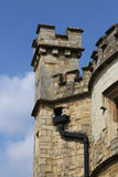 Turreted tower of the Old County Gaol in Buckingham England Stock Image