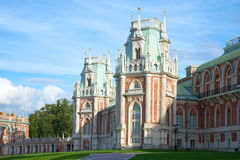Turrets of the Big Tsaritsyno palace in the September day. Moskow. Turrets of the Big Tsaritsyno palace in the September day, Moskow Royalty Free Stock Photo
