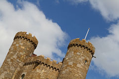 The turrets of Broadway tower Stock Images