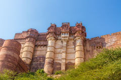 Turrets on the Mehrangarh Fort Royalty Free Stock Image
