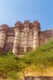 Turrets on the Mehrangarh Fort Stock Photos