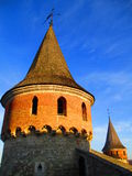 Turrets of the old fortress, Kamenets Podolskiy, Ukraine Stock Photos