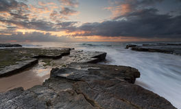 Turrimetta rockshelf Sydney Australia Royalty Free Stock Photos