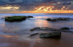 Turrimetta sunrise seasxape royalty free stock photos