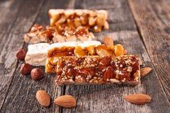 Turron, almond honey bar Royalty Free Stock Photos