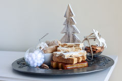Turron, mantecados и polvorones, типичное испанское swe рождества Стоковое Фото
