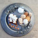 Turron, mantecados et polvorones, swe espagnol typique de Noël Image libre de droits