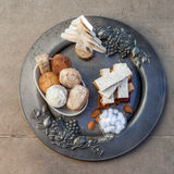 Turron, mantecados och polvorones, typisk spansk julswe Royaltyfri Foto