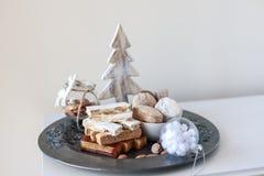 Turron, mantecados och polvorones, typisk spansk julswe Fotografering för Bildbyråer