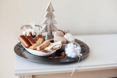 Turron, mantecados och polvorones, typisk spansk julswe Arkivfoto