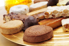 Turron, mantecados and polvorones, typical christmas sweets in S Stock Photos