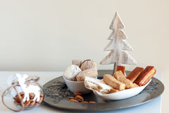 Turron, mantecados and polvorones, typical spanish christmas swe Royalty Free Stock Photos