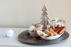 Turron, mantecados and polvorones, typical spanish christmas swe Royalty Free Stock Images