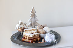Turron, mantecados and polvorones, typical spanish christmas swe Stock Image