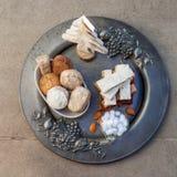 Turron, mantecados y polvorones, swe español típico de la Navidad Foto de archivo libre de regalías