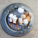 Turron, mantecados y polvorones, swe español típico de la Navidad Imagen de archivo libre de regalías