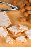 Turron and nuts Stock Image