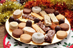 Turron, polvorones and mantecados, typical christmas confections Stock Photography