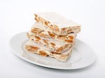 Turron, sobremesa espanhola tradicional Fotografia de Stock
