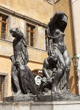 Tursa Skulptur-Jan.sÅ Nacht und Tag prag Tschechische Republik Lizenzfreie Stockfotografie