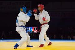 Tursunov S (r) contro Sagyn K (B) Fotografie Stock Libere da Diritti