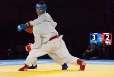 Tursunov S. (Red) vs Sagyn K. (Blue) Stock Photos