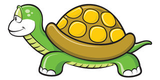 Turtle. Little green turtle happy cartoon Royalty Free Stock Image