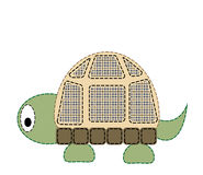 Turtle. Isolated cartoon funny baby turtle Royalty Free Stock Photo