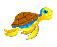 Turtle. Illustration of a funny little turtle Stock Photos